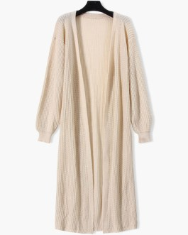 Casual Long Sleeve Maxi Cardigans Sweaters