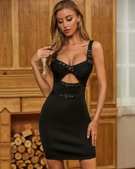 Sexy Sleeveless Spaghetti Strap Celebrity Runway Party Club Dress