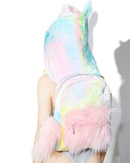 Sweet Lolita Bag Unicorn Backpack With Hood