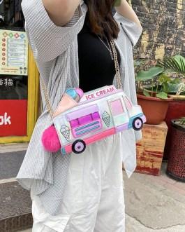Sweet Lolita Ice Cream Car Shaped Cross Body Bag