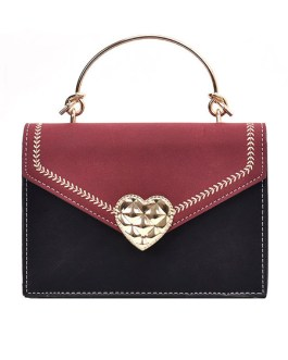 Sweet Lolita Suede Letter Shaped Cross Body Bag