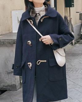 Lolita Duffle Coats Polyester Long Sleeve Overcoat Outwears
