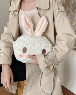 Sweet Lolita Bunny Pearls Chain Cross Body Bag