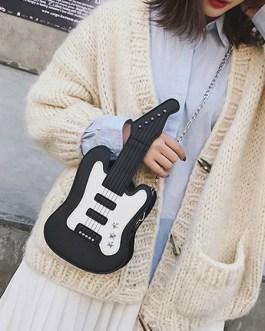 Sweet Lolita Handbag Guitar Shaped PU Leather Cross Body Bag