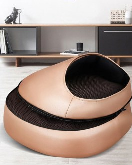 Heating 3D Roller Shiatsu Kneading PU Leather Massage
