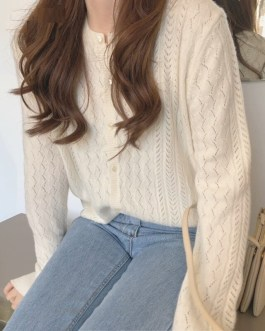 Long Sleeve Chic Knitted Cardigans