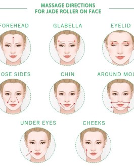 Natural Jade Roller Stone Face Lifting Massager