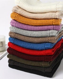 Adjustable Warm Knitted Collar Ring Neck Scarf
