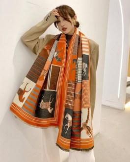 Cashmere Thick Fashion Animal Print Scarves
