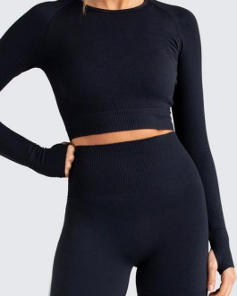 Clothing Long Sleeve Nylon Yoga Top