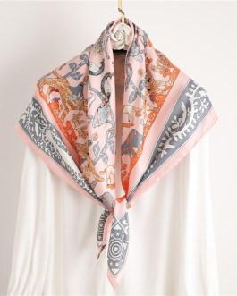 Design Silk Animal Print Scarf