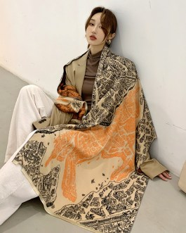 Fashion Cashmere Printed Thick Scarves