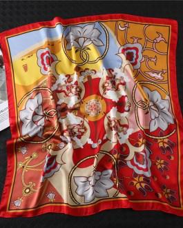 Fashion Design Print Silk Square Scarf