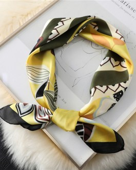 Fashion Floral Silk Square Scarf