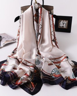 Fashion Printed Silk Stole