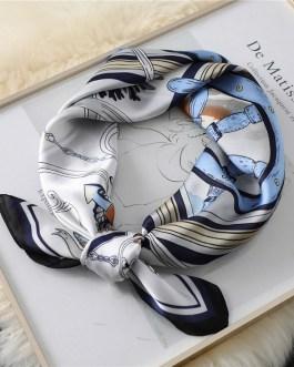 Fashion Printed Square Silk Neck Scarf