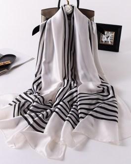 Fashion Striped Silk Scarves