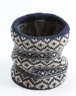 Knitted Print Ring Neck Snood Scarf