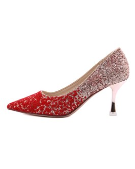 Pointed Toe Sequins Stiletto Evening Shoes