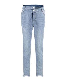 Fashion Irregular Button Design Slim Fit Pencil Jeans