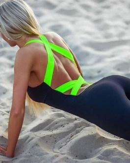 Sexy Bandage Jumpsuit Pants Stretch Pants Sports Wear