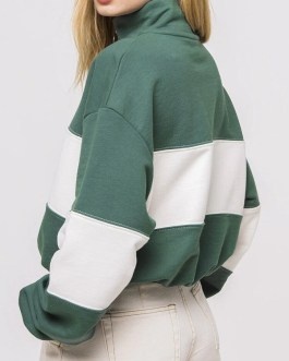 Casual Long Sleeve Patchwork Pullover Hoodies