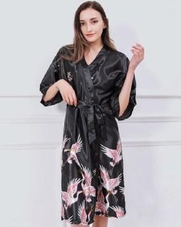 Sexy Graphic Printing Night-robe