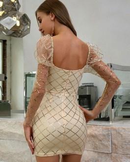 Cowl Neck Cami Sheer Casual Sleeveless Pencil Bodycon Dress