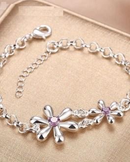Flowers Crystal Bracelets Chain Jewelry