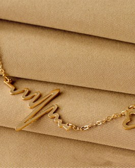 Choker Collar Bib Necklace Heart Beat Pendant