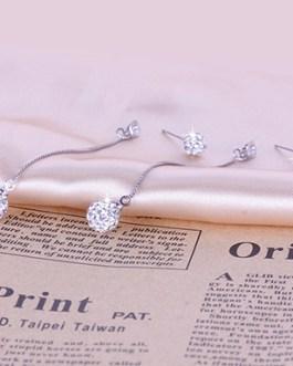 Fashion 925 Sterling Long Tassel Earrings