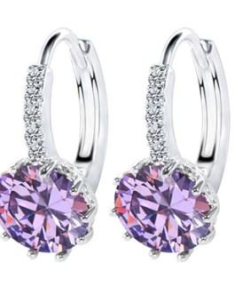 Rhinestone Austria Crystal Hoop Earring
