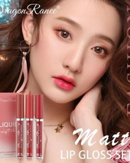 3Pcs Sexy Matte Velvet Liquid Lipstick Set