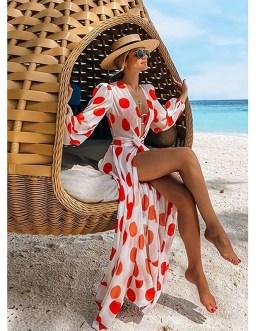 Sexy Long Sleeve Tunic Bikini Cover Up