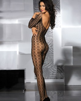 Sexy Solid Color Crotchless Sheer Hosiery Bodystocking