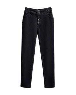 Casual Elastic High Waist Straight Pants