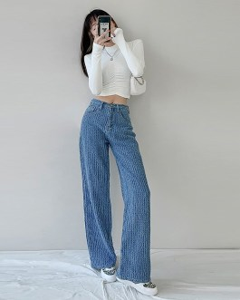 Casual Smooth Straight Lazy Pants