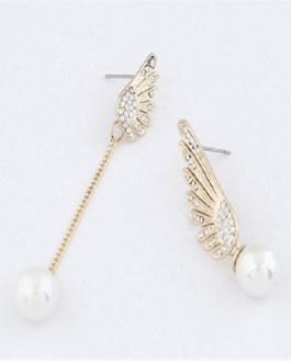 Fashion Aearl Angel Wings Delicate Earrings