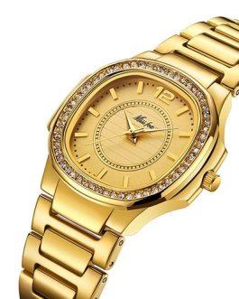Fashion Elegant Stainless Steel Waterproof Quartz Wristwatch