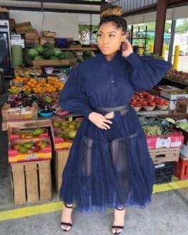 Korean Streetwear Puff Sleeve Patchwork Casual Party Dress