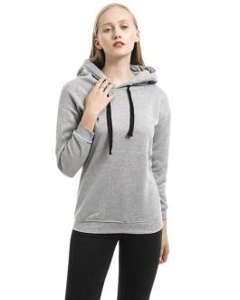 Long Sleeve Hooded Loose Casual Warm Sweatshirt