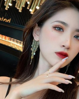 Long Style Star Tassel Earrings