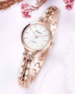 Luxury Crystal Fashion Alloy Round Wrist Watch