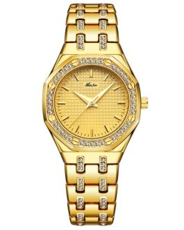 Luxury Diamond Waterproof Iced Out Clock Wristwatch