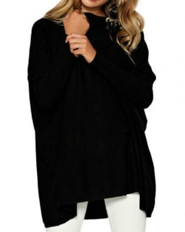 Round Neck Sweaters Loose Casual Top Pullovers