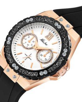 Rubber Band Diamond Waterproof Quartz Wristwatch