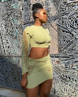 Sexy Solid Elastic High Waist Mini Skirt