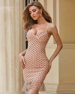 Sexy Spaghetti Strap Mermaid Lace Celebrity Runway Club Party Bodycon Dress