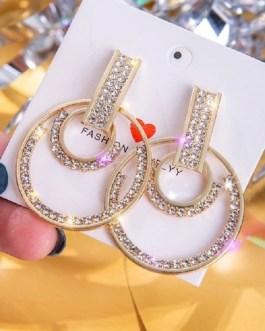 Fashion Cute Rhinestone Earrings
