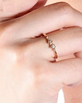 Fashion Personality Charm Crystal Metal Rings